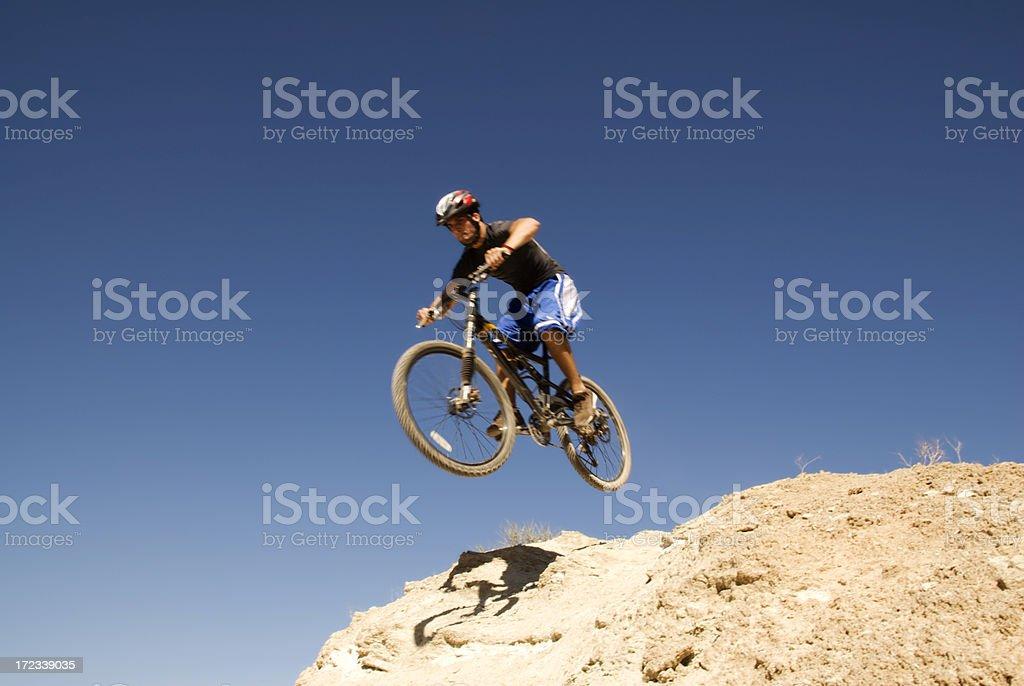 Mountain Biking Jump royalty-free stock photo