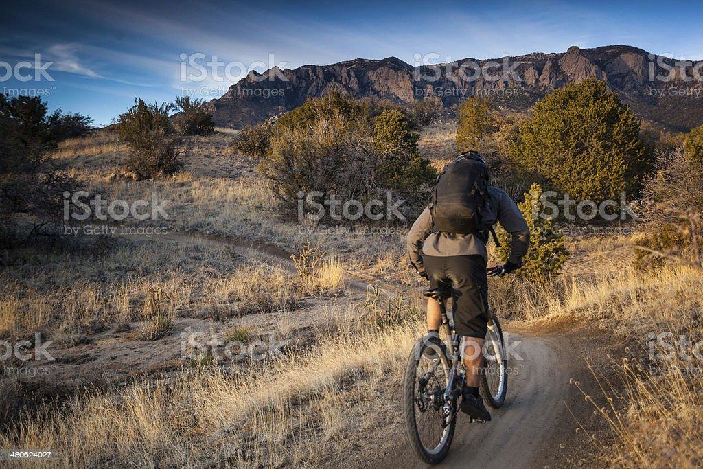 mountain biking landscape royalty-free stock photo