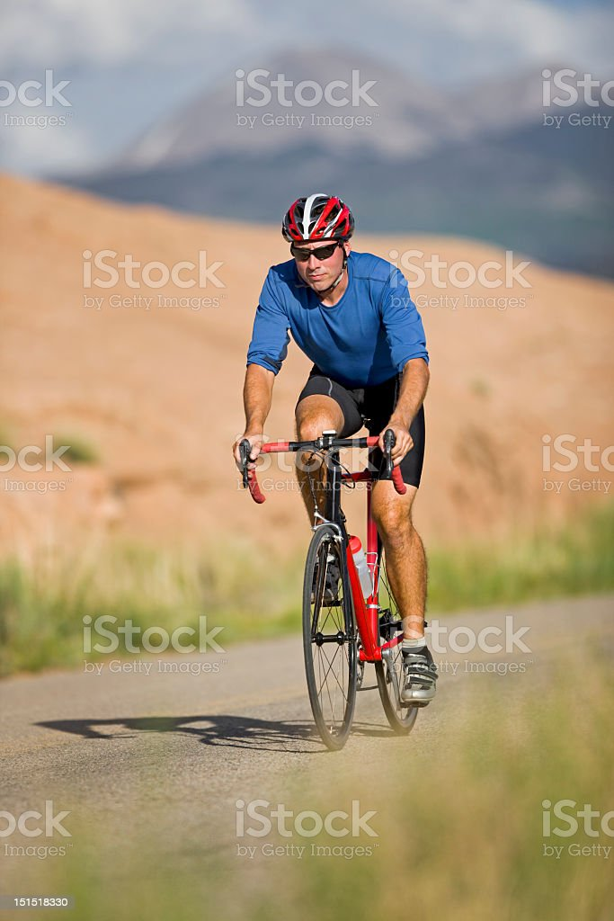 Mountain Biking On Slickrock Trail In Moab, Utah royalty-free stock photo
