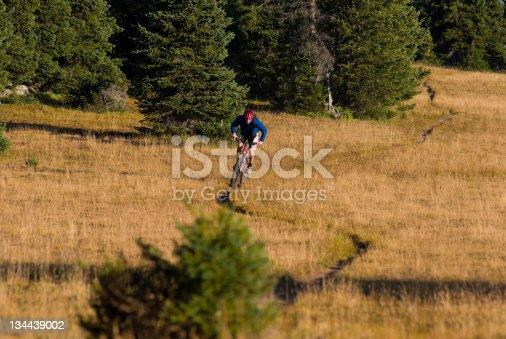 Mountain Biking Singletrack in the Mountains