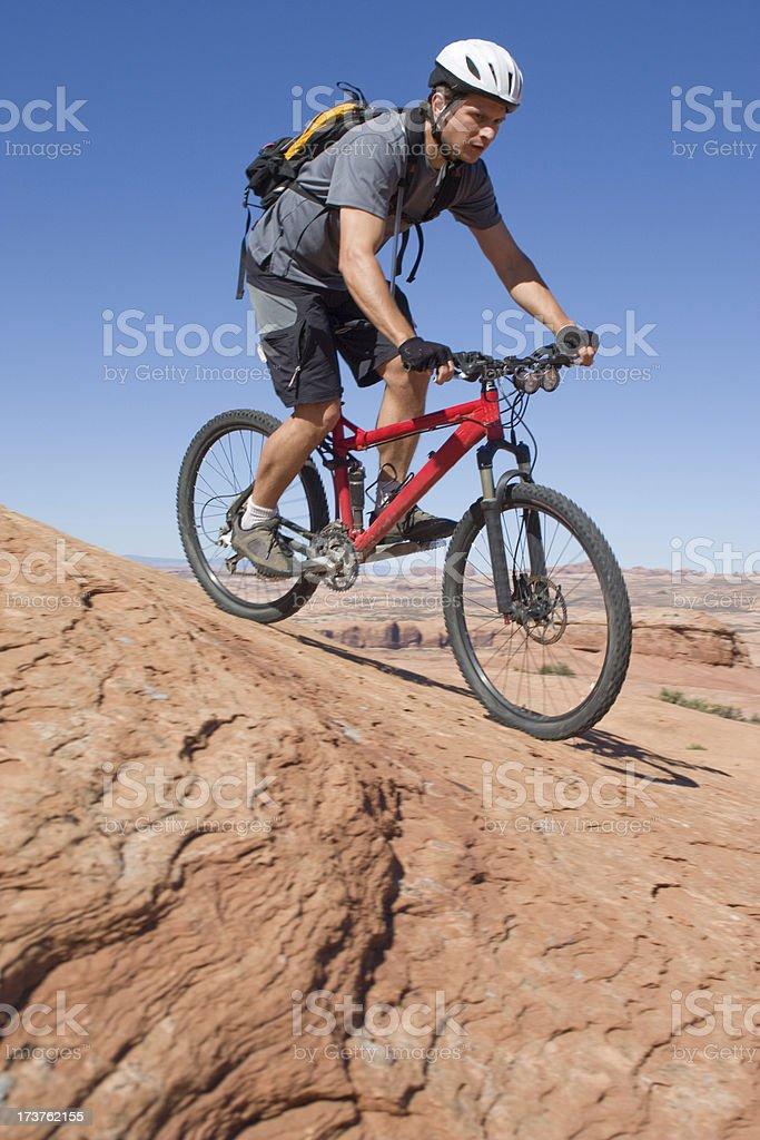 Mountain Biking the Slickrock Trail in Moab Utah royalty-free stock photo