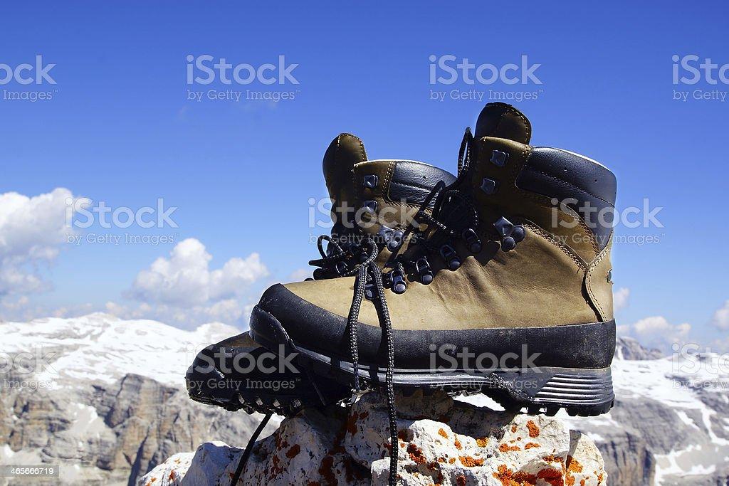 Mountain boots. royalty-free stock photo