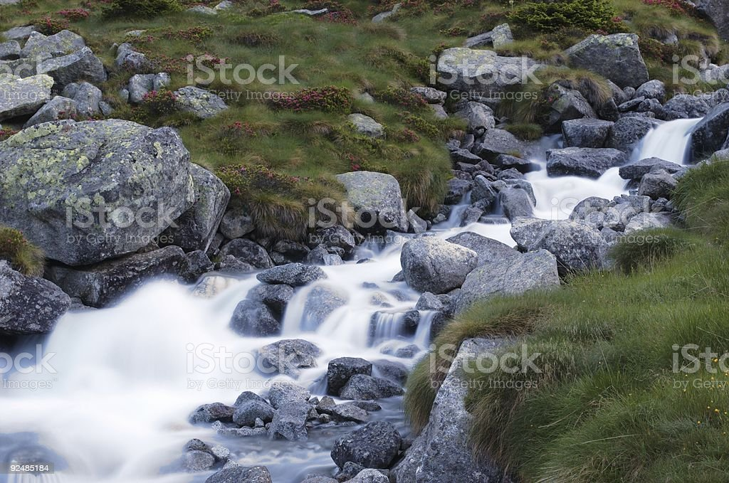 mountain brook with long exposure royalty-free stock photo