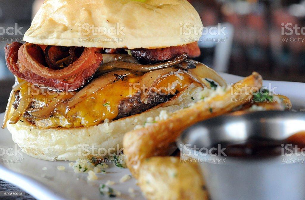 Mountain Burger Waiting zbiór zdjęć royalty-free