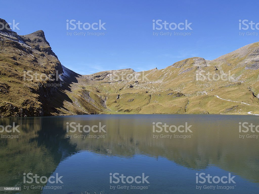 Mountain by the lake royalty-free stock photo