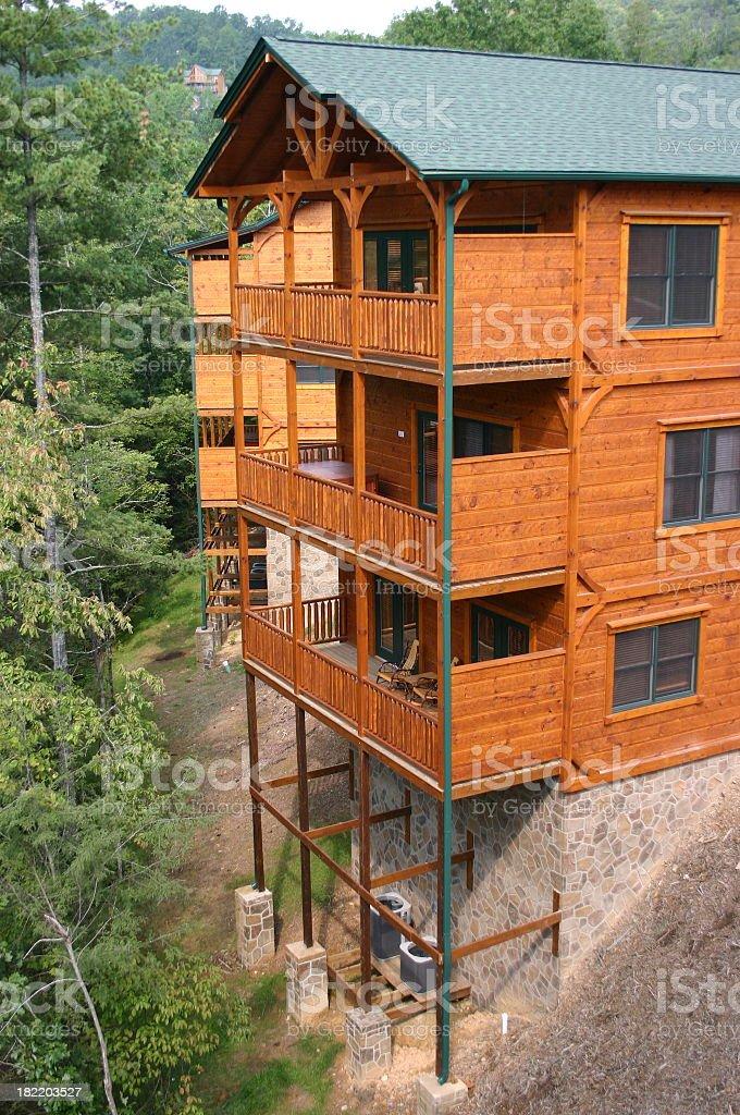 Mountain Cabin royalty-free stock photo
