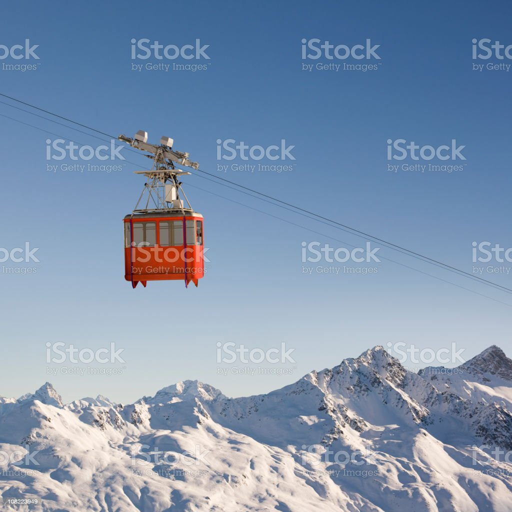 Mountain Cable Car royalty-free stock photo
