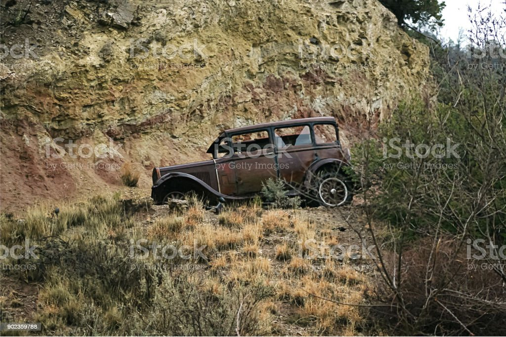 mountain Car stock photo