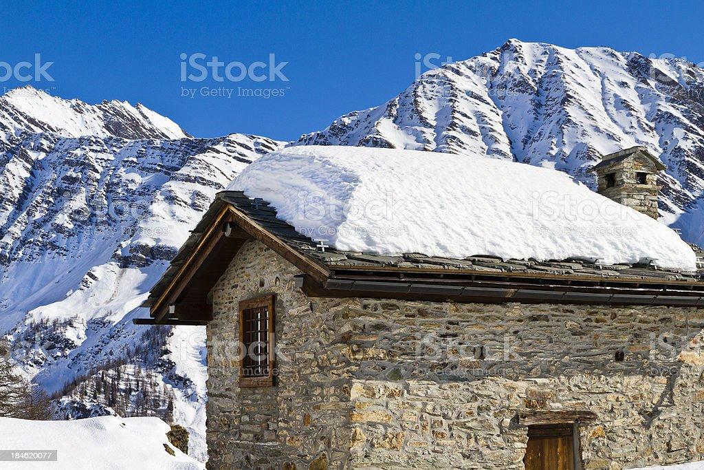 Mountain Chalet royalty-free stock photo