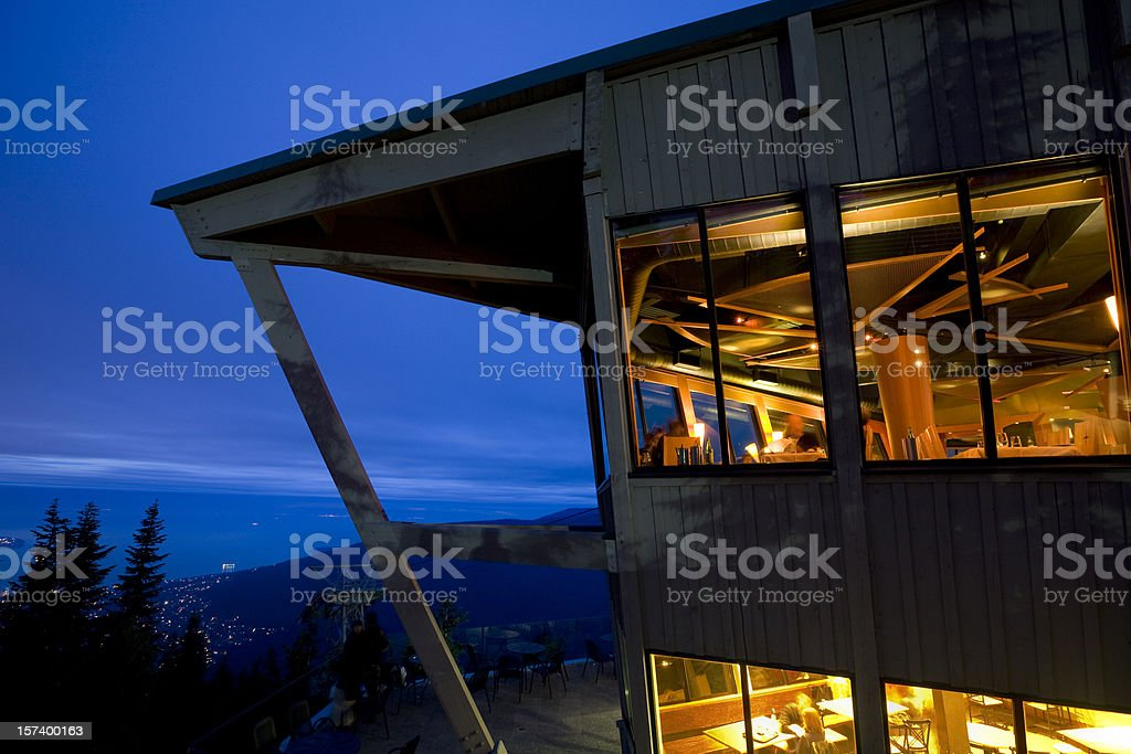 Mountain Chalet, Restaurant royalty-free stock photo
