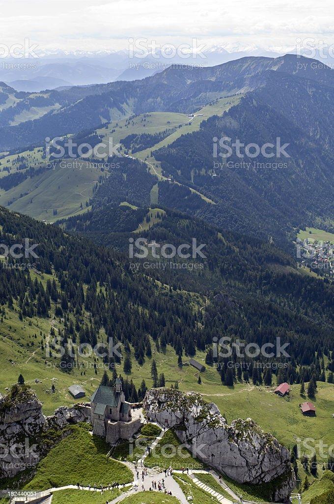 Mountain Chapel on Wendelstein, Germany stock photo