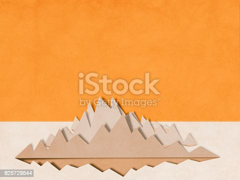 istock mountain charts, paper cutting style 825729544