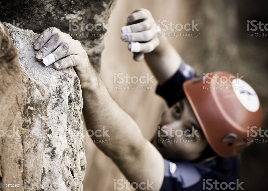 Mountain Climber in Action royalty-free stock photo