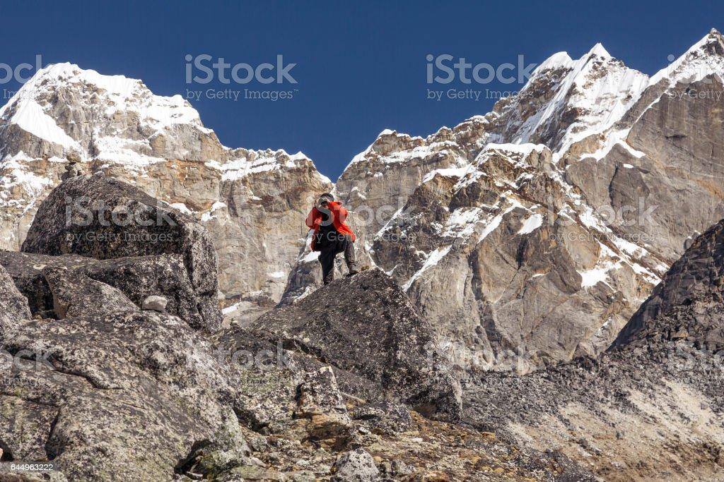 new styles 8178b 1dfd2 Bergsteiger In Warme Jacke Aufnahme Stockfoto und mehr ...