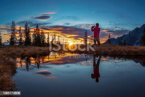 Sunrise - Dawn, Autumn, Climbing, Mandlwände