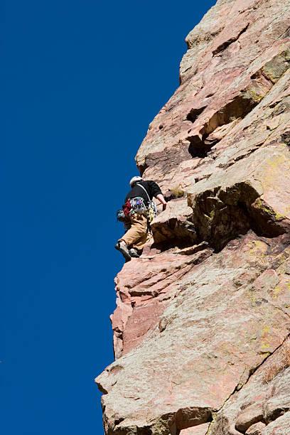 Mountain Climbers in El Dorado Canyon Colorado stock photo