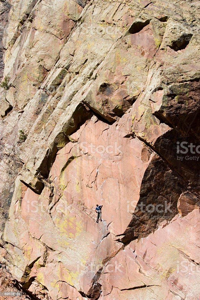 Mountain Climbers in El Dorado Canyon Colorado royalty-free stock photo