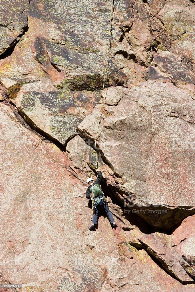 Mountain Climbers in El Dorado Canyon Colorado 免版稅 stock photo