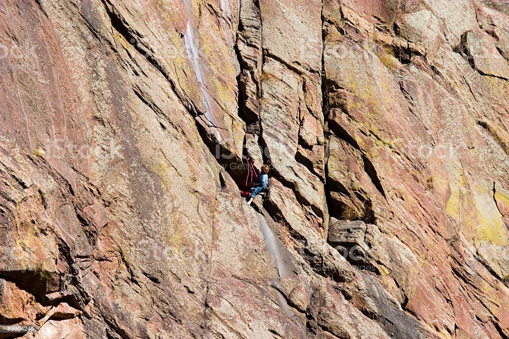 Mountain escaladoras en El Dorado cañón parque estatal de Colorado foto de stock libre de derechos