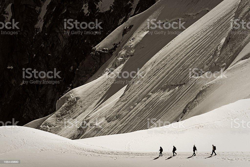 mountain climbers royalty-free stock photo