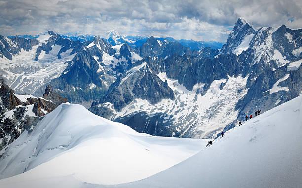 사용자 산악인 - 몽블랑 뉴스 사진 이미지
