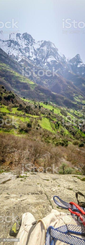 Mountain Climbing in Spain stock photo