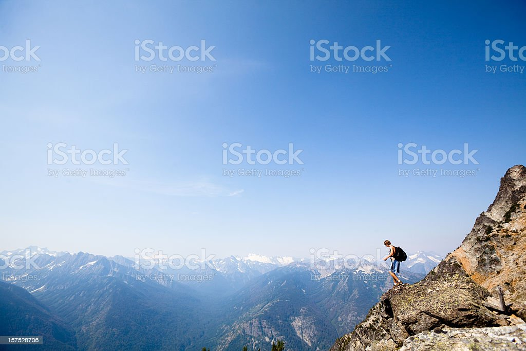 Mountain Climbing in the North Cascades royalty-free stock photo