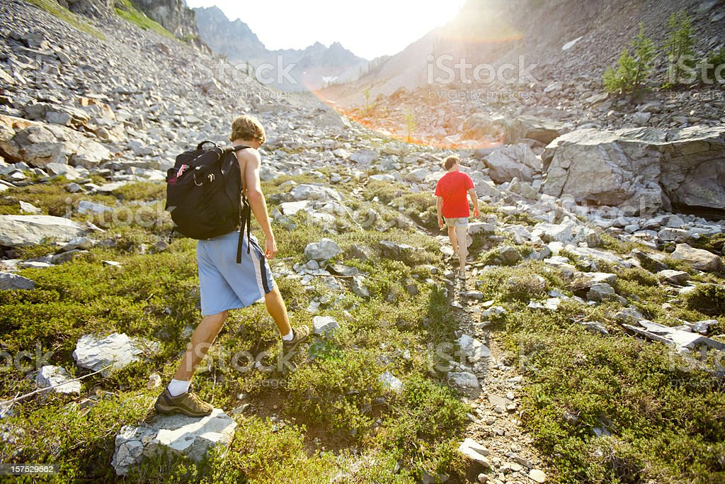 Mountain Climbing in the North Cascades stock photo