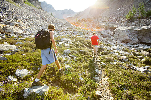 Alpinismo no North Cascades - foto de acervo