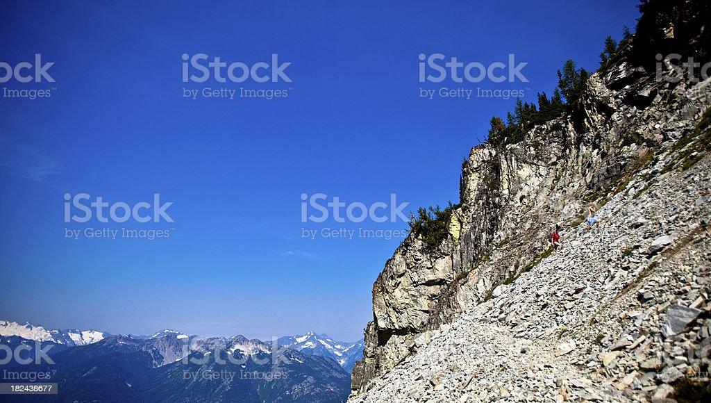 Mountain Climbing in the North Cascades stock photo