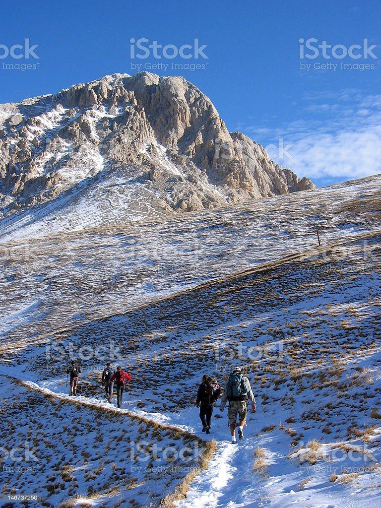 Mountain Climbing stock photo