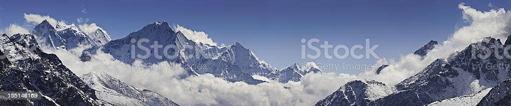 Mountain cloud wilderness panorama Himalayas royalty-free stock photo