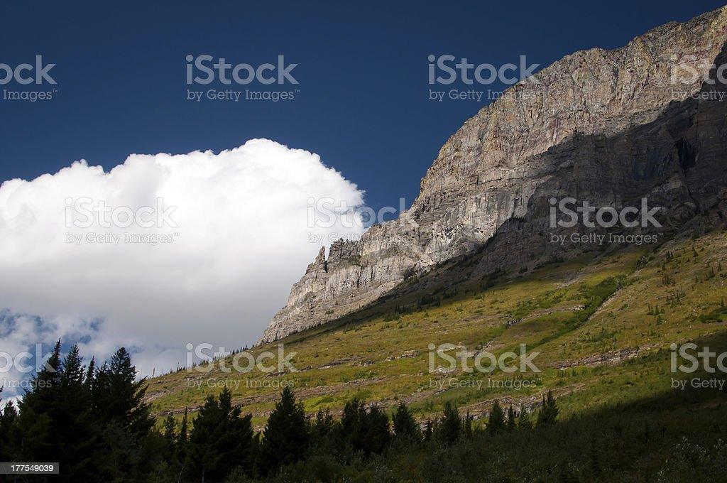 Mountain clouds royalty-free stock photo