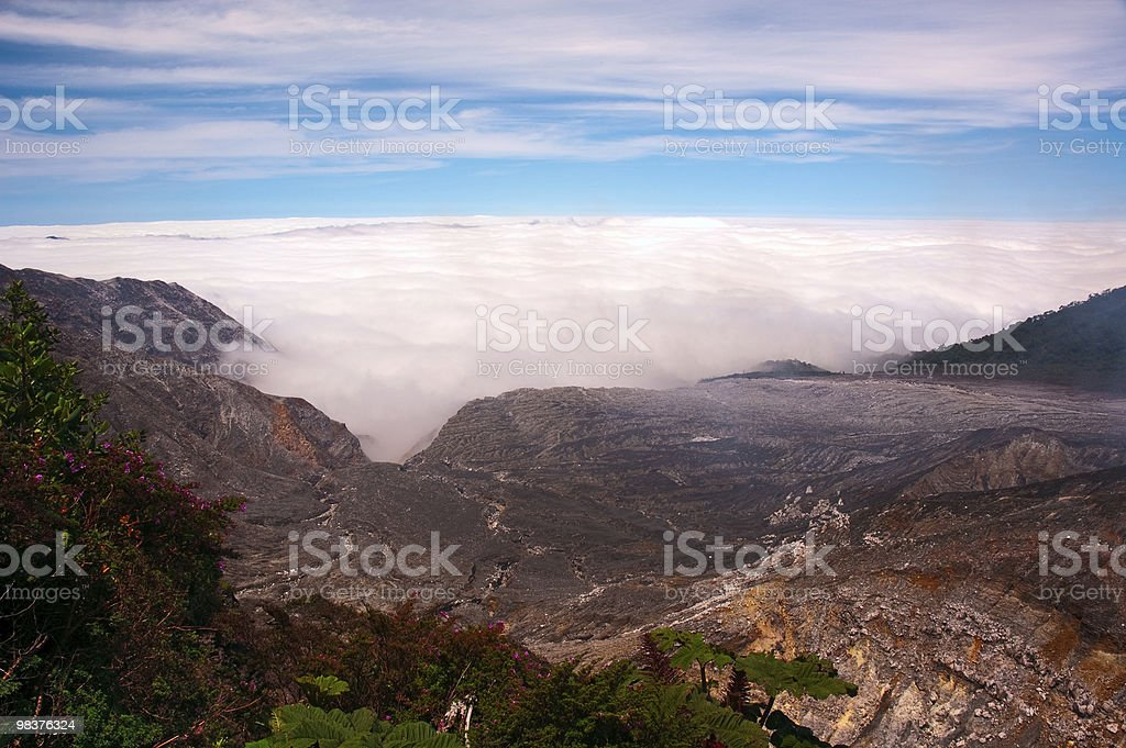 Mountain cloudscape royalty-free stock photo