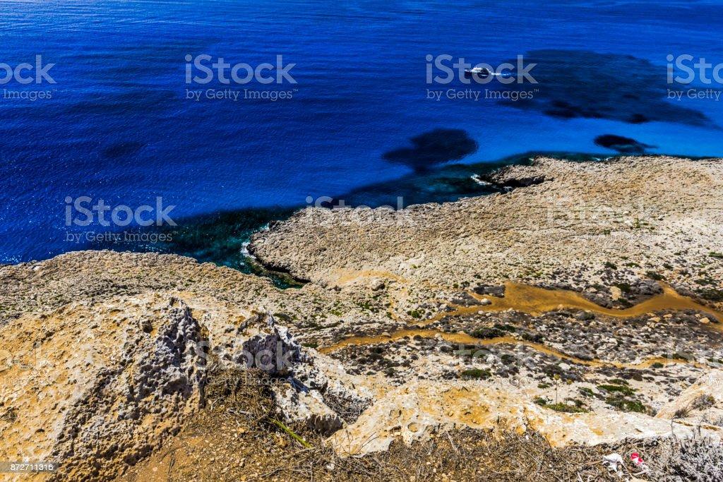 Mountain coast of Cyprus stock photo