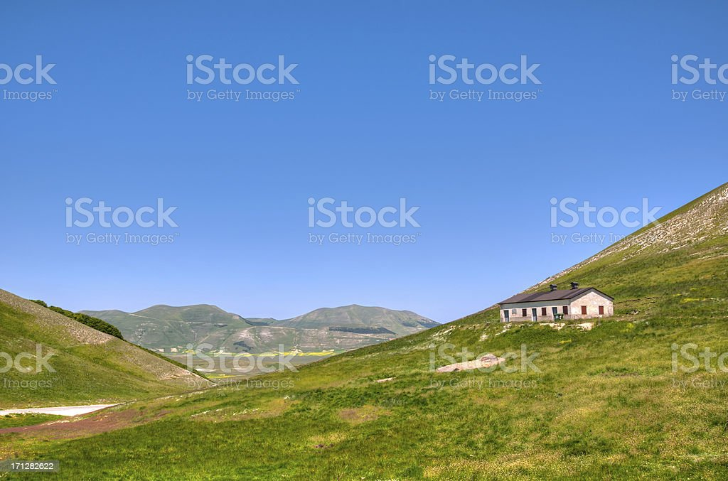 Mountain cottage stock photo