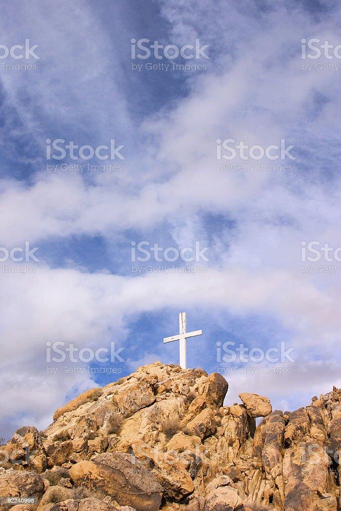 Mountain Cross royalty-free stock photo