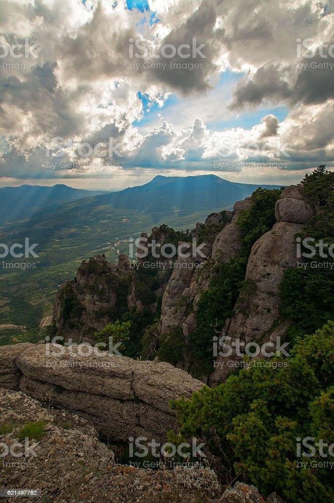 Mountain Demerdzhi in Crimea Lizenzfreies stock-foto