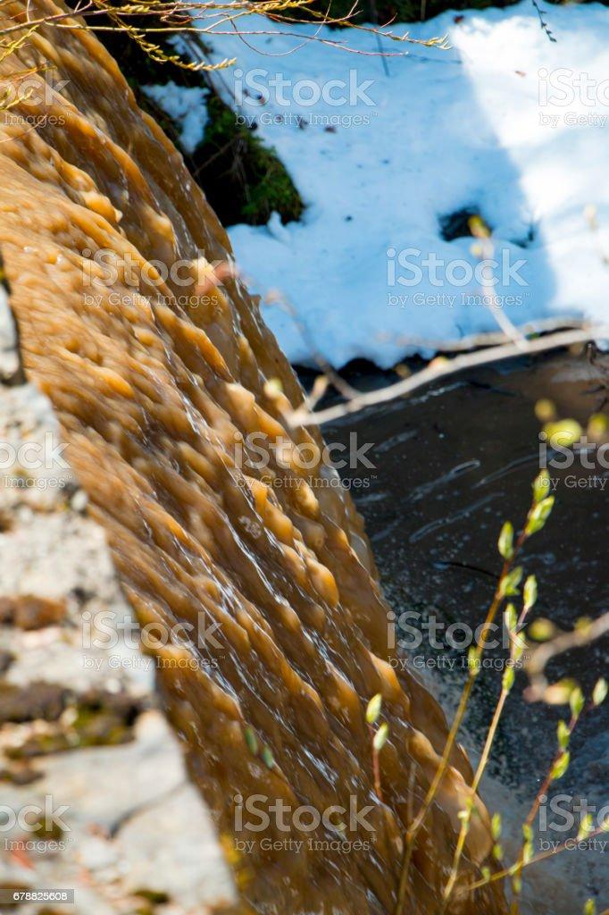Mountain dew waterfall photo libre de droits