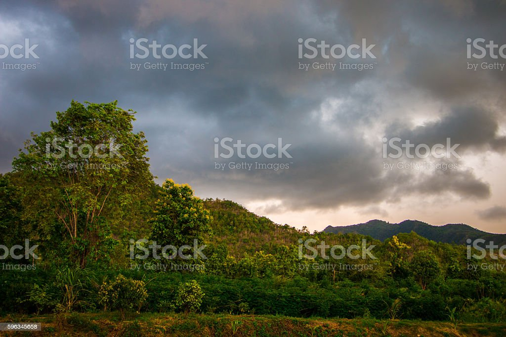Mountain evening royalty-free stock photo