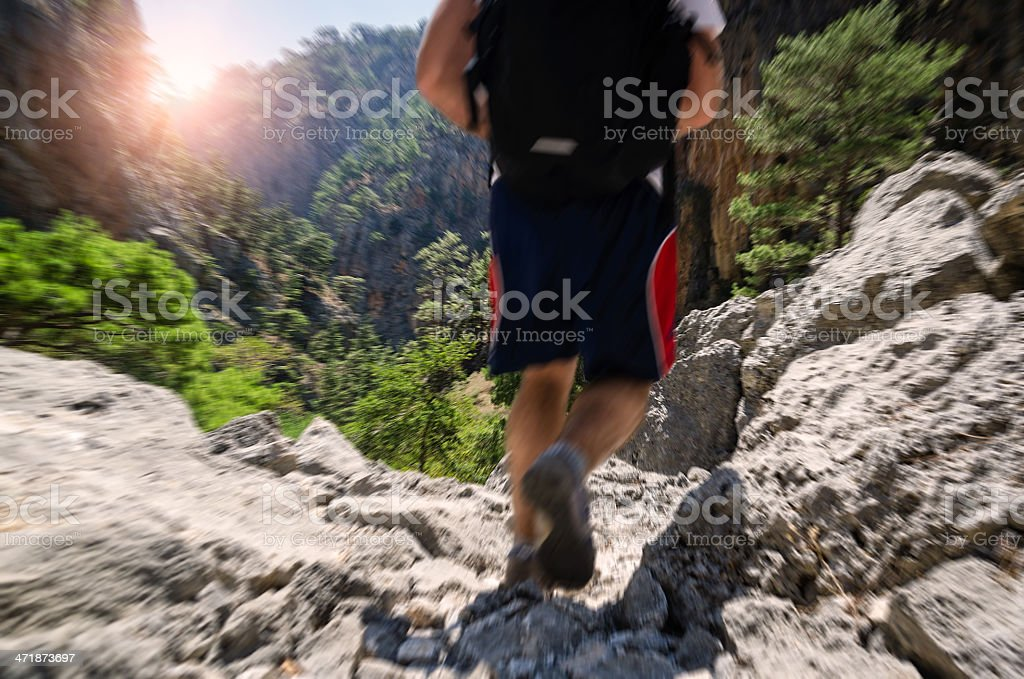 Mountain excursion stock photo
