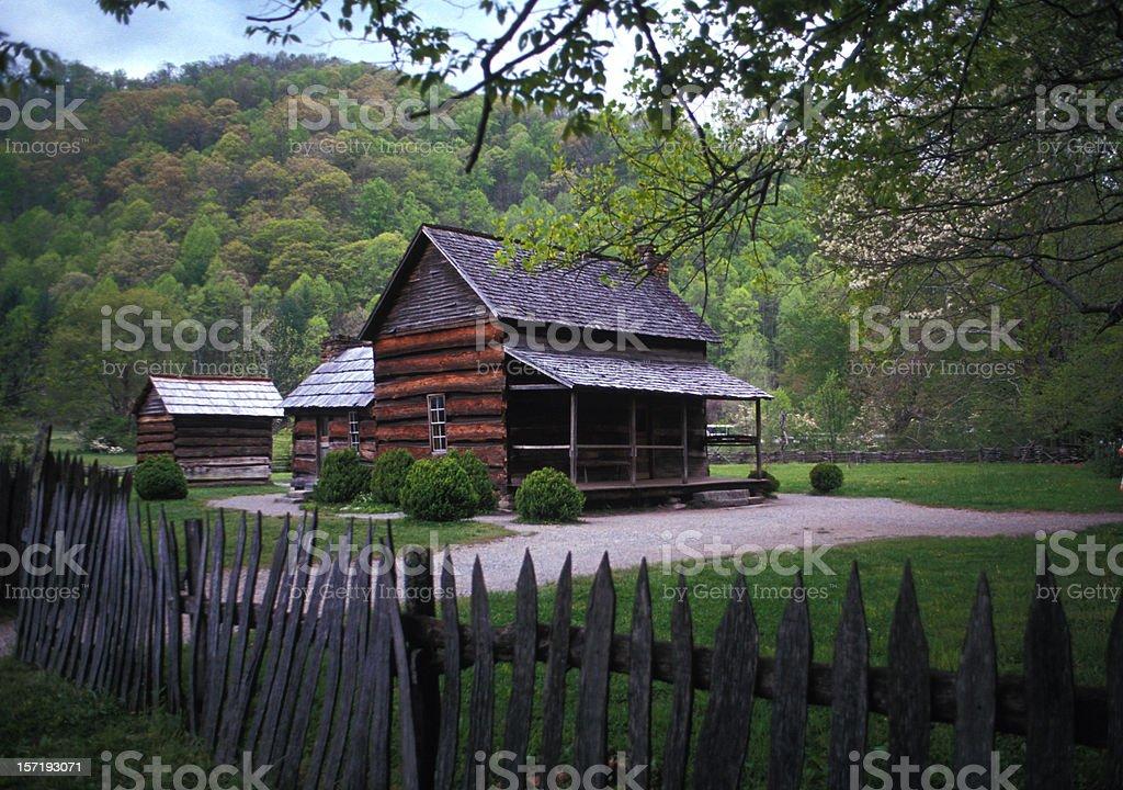 Mountain Farm Museum at Great Smoky Mountains National Park stock photo