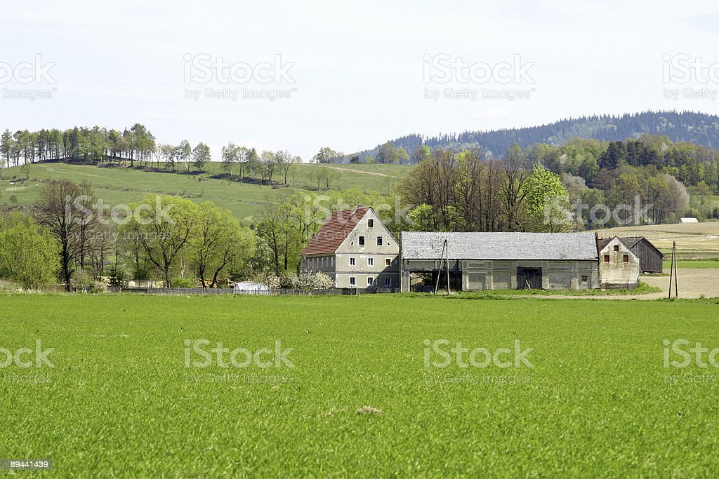Mountain farm royalty-free stock photo