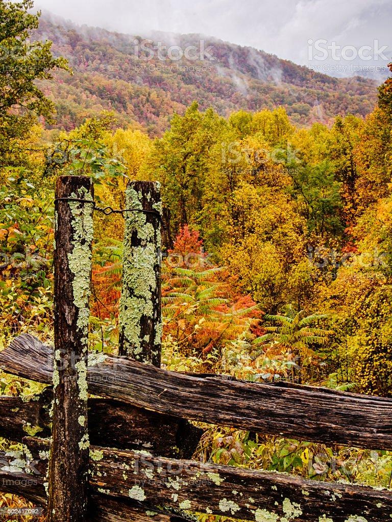 Mountain Fence stock photo