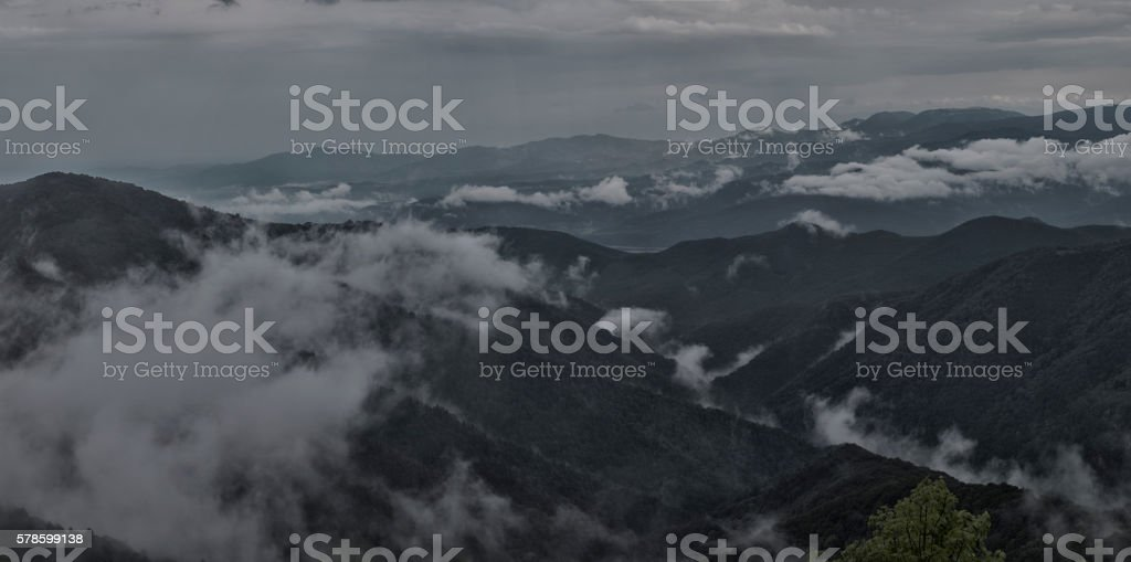 Mountain fogs stock photo