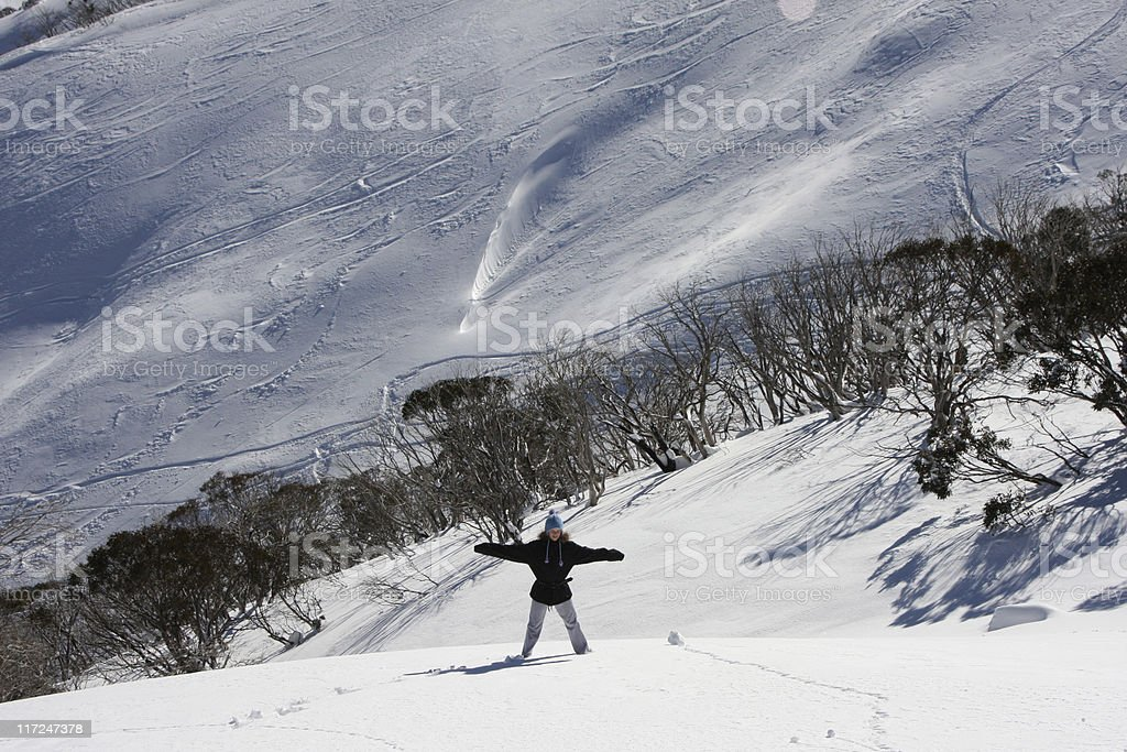 Mountain for one royalty-free stock photo