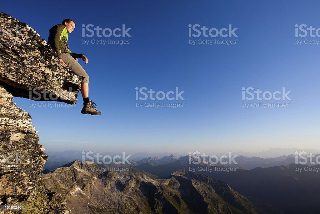 Mountain freedom royalty-free stock photo