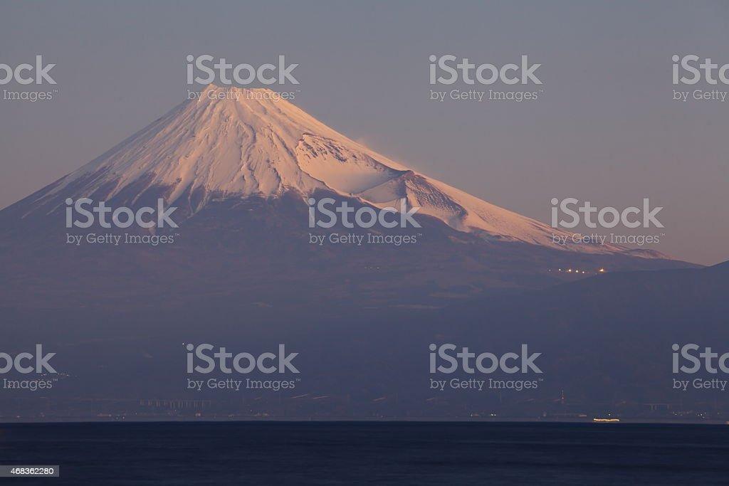 Mountain Fuji and sea royalty-free stock photo