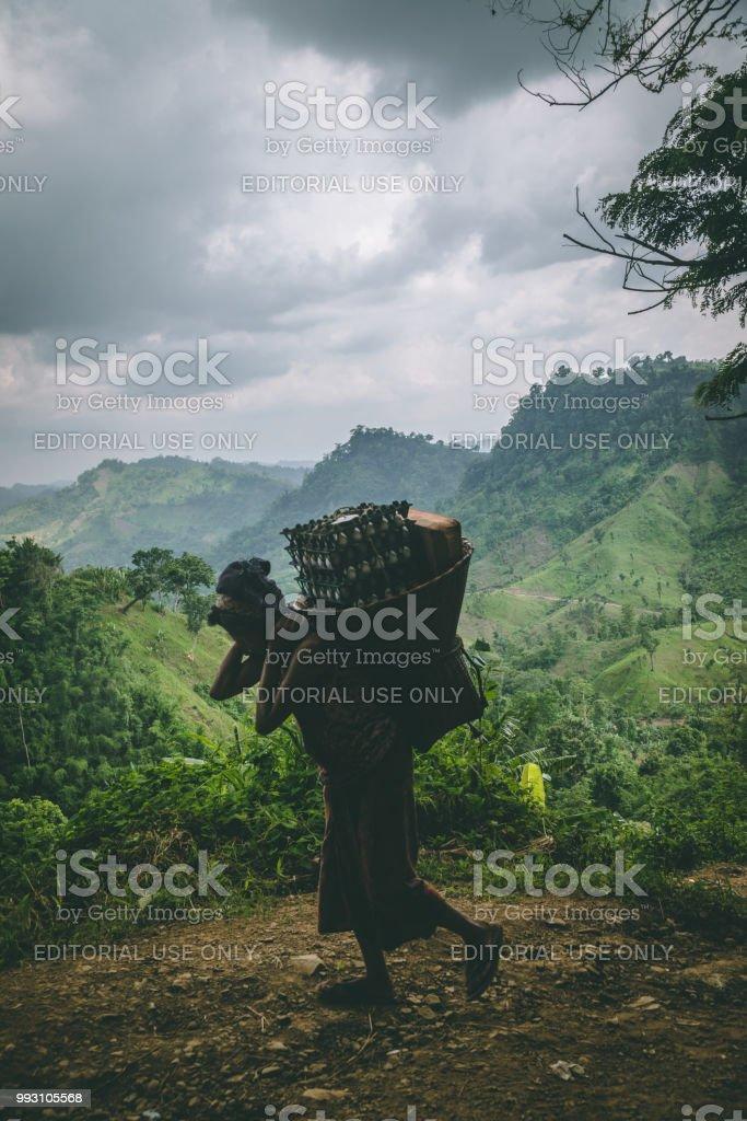 산 여자아이 스톡 사진