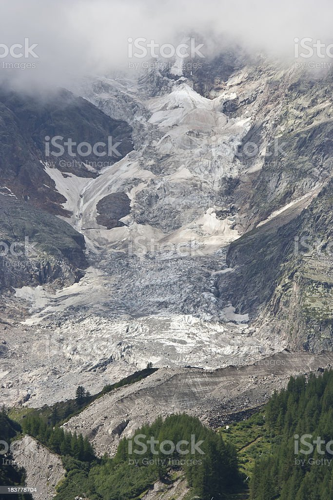 Mountain  Glacier with cloud stock photo